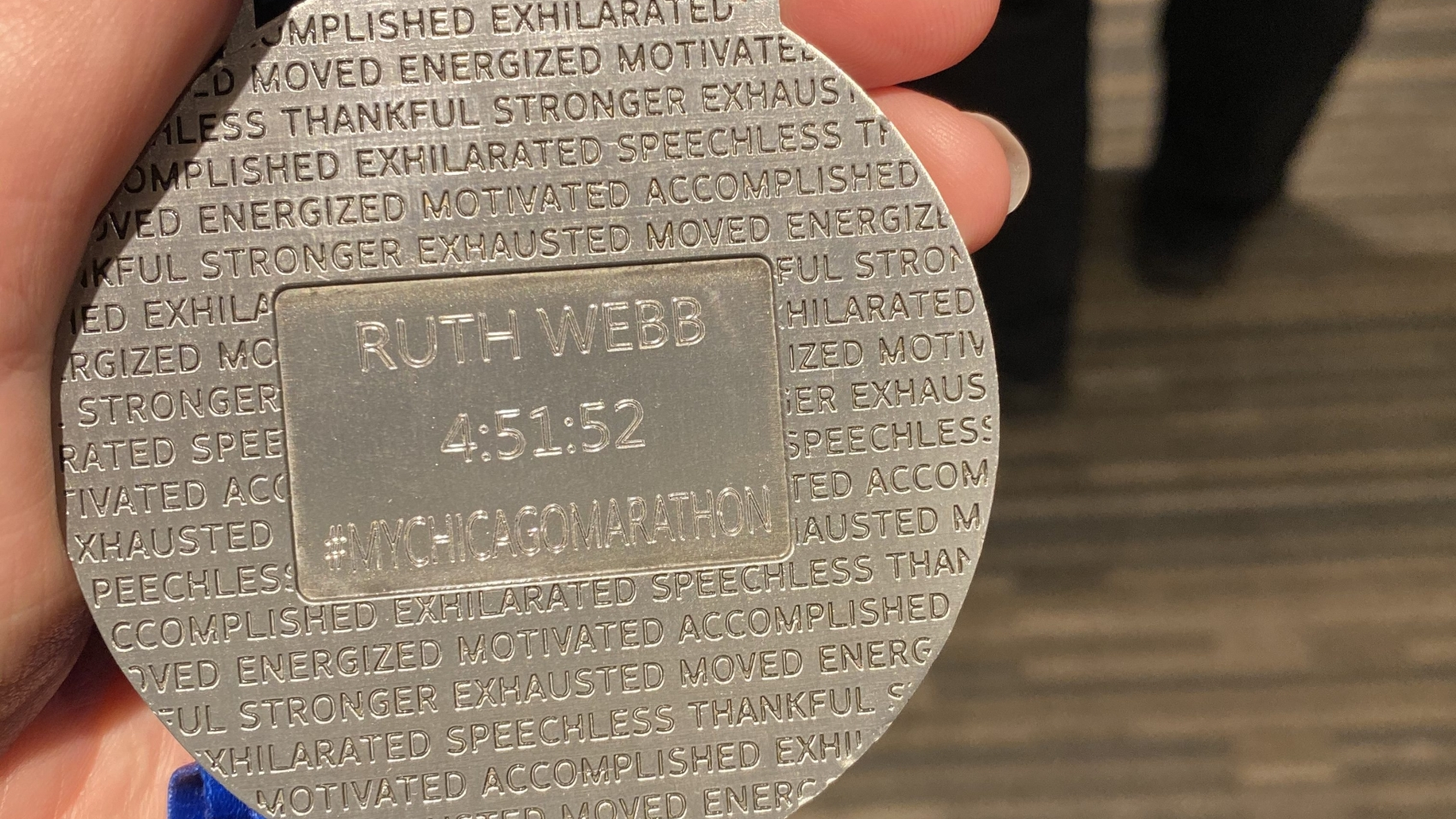 Chicago Marathon Medal Engraved