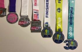 Brighton Half Marathon Medals 2014-2020
